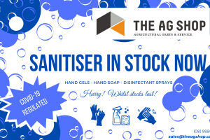 Sanitiser in stock now!
